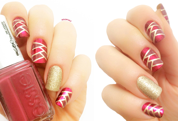 Braided Marsala Nails  2