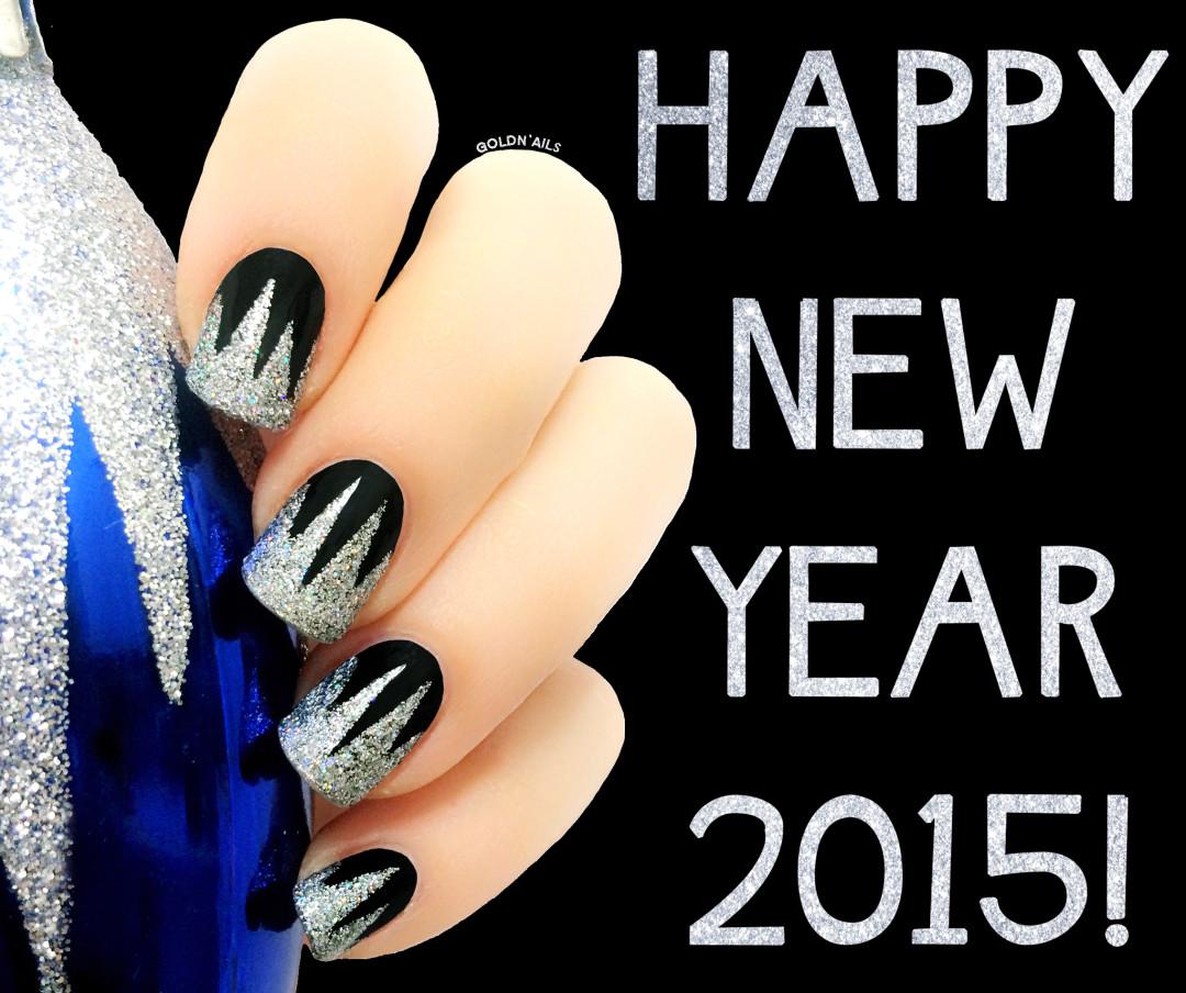 תמונה של ציפורניים לערב השנה החדשה 2015