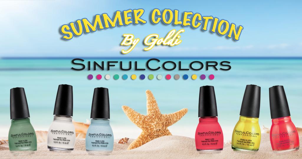 Sinful & GoldNails - קולקצית צבעי הלקים של סינפול קולורס לקיץ בשיתוף עם גולדי פורמן