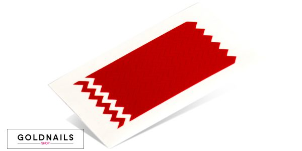 תמונה של מדבקות לציפורניים בצורת זיגזג בגודל רגיל