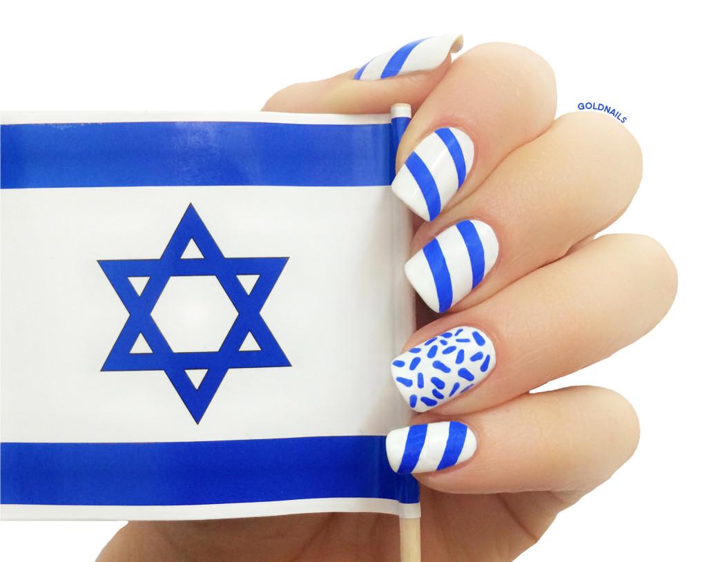 ציפורני דגל ישראל לכבוד יום העצמאות