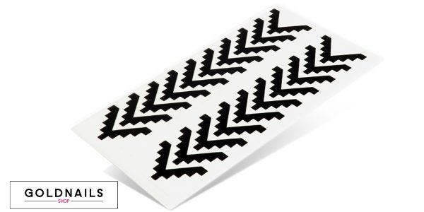 תמונה של מדבקות לציפורניים בצורת טטריס