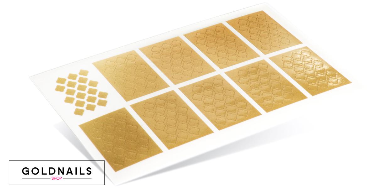 תמונה של מדבקות שבלונה לציפורניים בעיצוב מרקש