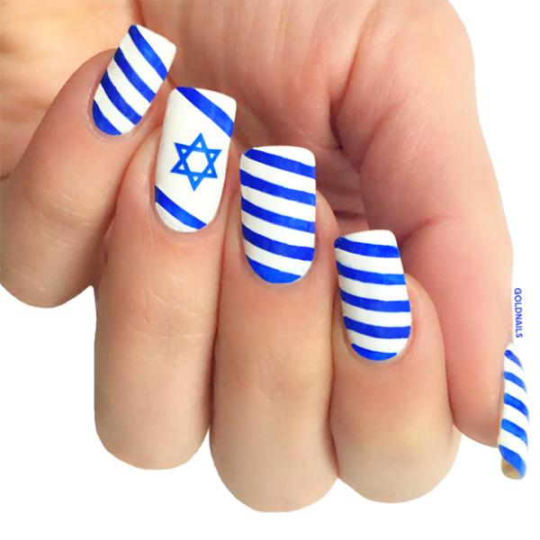 ציפורני דגל ישראל ליום העצמאות ה-68 של ישראל