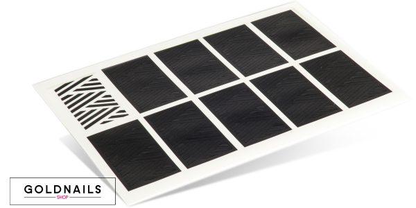 תמונה של מדבקות שבלונה לציפורניים בעיצוב צמה קלועה
