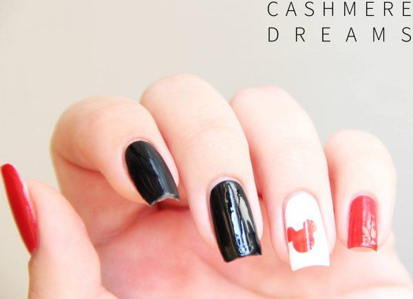ציפורני מיקי מאוס עם מדבקות שבלונה - קרדיט: דניאלה לבלוג Cashmere Dreams