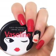 עיצוב ציפורניים בהשראת שיתוף הפעולה בין מעצבת האופנה הבריטית Lulu Guinness לחברת Vaseline!