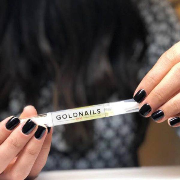 שמן ההזנה לציפורניים של גולדניילס בסיום כל טיפול מניקור ג'ל