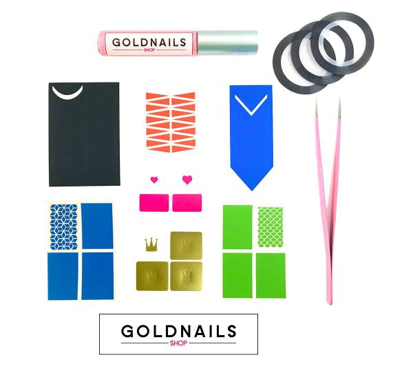 ערכת התנסות של מוצרי אומנות הציפורניים הטובים ביותר של גולדניילס