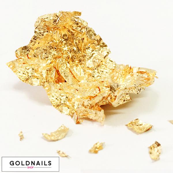 עלי זהב לקישוט הציפורניים - גולדניילס