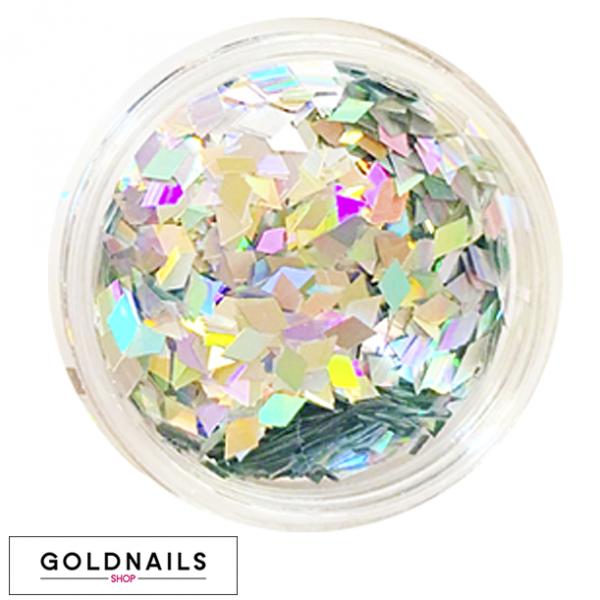 קישוטי יהלומים הולוגרפיים לציפורניים של גולדניילס