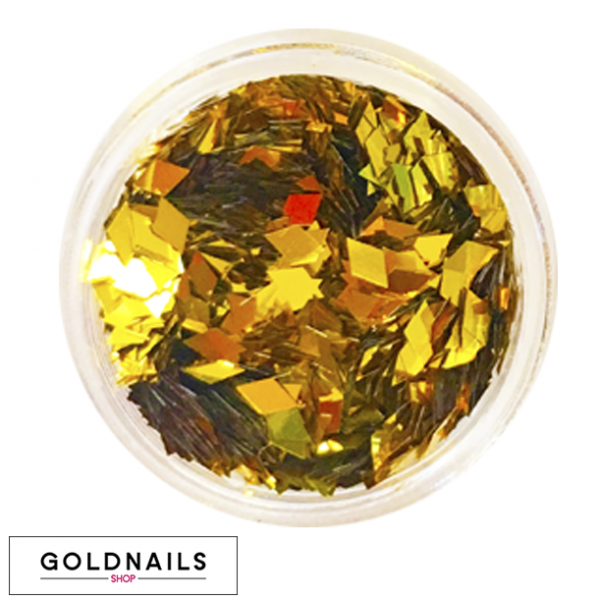 קישוטי יהלומים זהובים לציפורניים של גולדניילס
