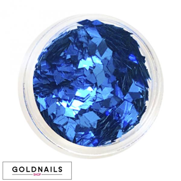 קישוטי יהלומים כחולים לציפורניים של גולדניילס