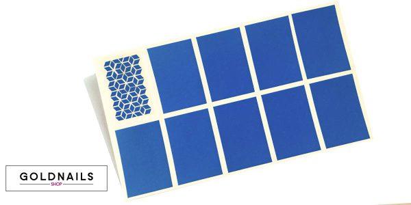 שבלונות לציפורניים בהדפס אוריגמי בסגנון יפני