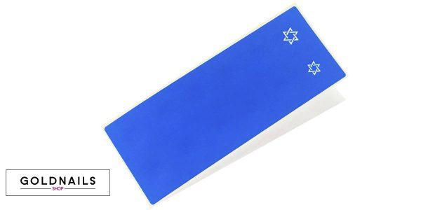 12 מדבקות שבלונה בצורת מגן דוד ליום העצמאות