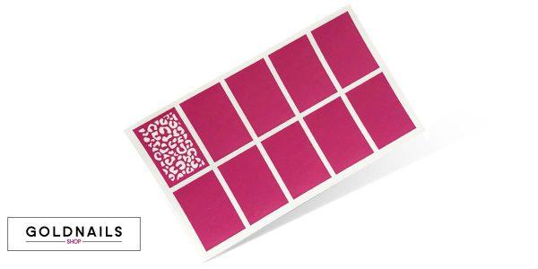 10 שבלונות לציפורניים בהדפס מנומר