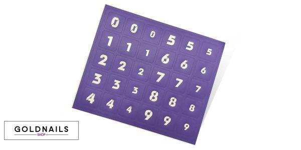 30 מדבקות שבלונה לציפורניים בצורת מספרים